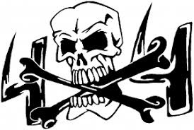 Skull And Cross Bones 4x4 Decal Car Or Truck Window Decal Sticker Rad Dezigns