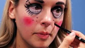 easy creepy doll makeup that ll