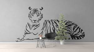 Clemson Tiger Wall Decal Flying Cool Design Daniel Neighborhood Large Black And White Woods Vamosrayos