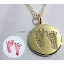 custom baby footprint pendant gift