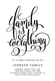our family family reunion invitation template greetings