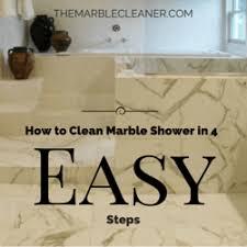 clean marble shower in 4 easy steps