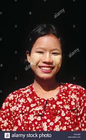 Young woman portrait. Maha-Aungmye Bonzan Monastery. Mandalay ...