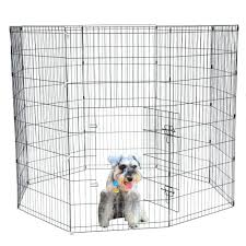 Bestpet Puppy Pet Playpen 8 Panel Indoor Outdoor Metal Protable Folding Animal Exercise Dog Fence 24