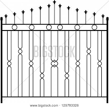 Wrought Iron Gate Vector Photo Free Trial Bigstock
