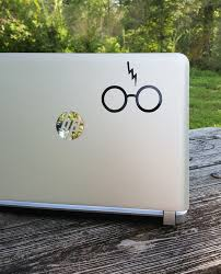 Decal Glasses And Scar Hp Laptop Decal Laptop Sticker Phone Decal Phone Sticker Car Sticker Car Decal Window Decal Window Sticker Sold By Stickersforyouall On Storenvy
