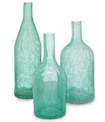 turquoise led glass vase
