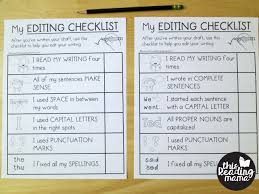 editing checklists for k 5 learners