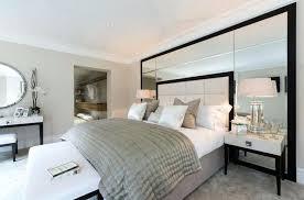 bed mirrored headboard wall mirror