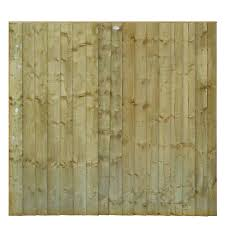 Green Professional Feather Edge Timber Fence Panel W 1 83m H 1 8m Pack Of 4 Departments Diy At B Q Fence Panels Slatted Fence Panels Timber Fence Panels