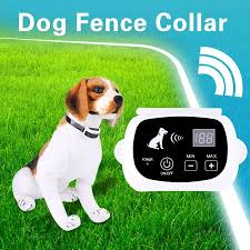 Ejoyous 2types Wireless Electric Dog Training Fence Collar Rechargeable Pet Containment System Wireless Dog Fence Dog Fence Collar Walmart Canada