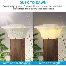 Shop Solar Post Lights Outdoor Post Cap Light For Fence Deck Soft White Lamp 2pack Overstock 30427180