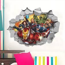 Lego Batman Super Heros Avengers Wall Stickers Kids Room Decoration 3d Cartoon Movie Mural Art Diy Home Decals Poster Boys Gift Leather Bag