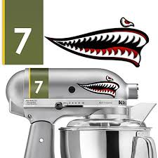 Kitchenaid Flying Tiger Shark Lucky 7 Vinyl Decals Ka Mixer Vinyl Sticker Designed To Fit Kitchenaid Stand Mixers Including Pro600 Classic And Artisan Mixers Not Included Buy