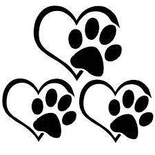 3pcs Cute Cat Dog Paw Print Reflective Car Decal Sticker Window Footprint Logo Decal M8617 Car Stickers Aliexpress