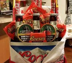 basket gifts redneck man bouquet for
