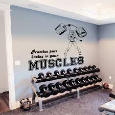 Wall Decals Quotes Sport Girl Muscles Rod Power Gym Bedroom Vinyl Decor Wall Decals Quotes Wall Decalsbedroom Decor Aliexpress