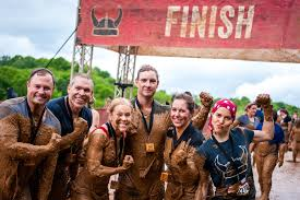 an obstacle course race or mud run