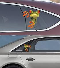 Decals Handmade Products Surprise Frog Car Sticker Decal White Choose Size