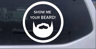 Show Me Your Beard Car Or Truck Window Decal Sticker Rad Dezigns