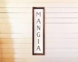 Mangia Wall Art Etsy