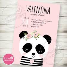 Kit Imprimible Panda Party Rosa 2 Decora Tu Cumple