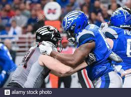 Feb 23, 2020: NY Guardians linebacker Ryan Mueller (44) and St. Louis  Battlehawks tight end Wes
