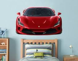 Ferrari Wall Decal Car Wall Decal Supercar Decal Playroom Wall Etsy