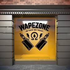 Amazon Com Vape Wall Window Decal Sticker Vape Shop Vaping Vape Store Logo Handmade 1511 Handmade