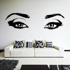 Decords Wall Sticker Woman Girl Eyes Decal Decor Sexy Graphic Vinyl Beautiful Face