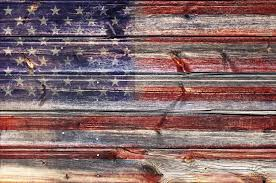 American Flag Painted On Fence Background Stock Photo C Manczurov 86811522