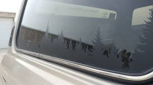 A Pair Of Tree Line Vinyl Decal Cruiser Convoy