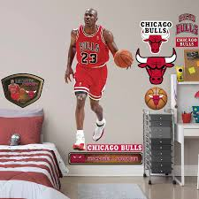 Chicago Bulls Michael Jordan Fathead 13 Pack Life Size Removable Wall Decal