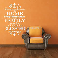 Home Family Blessing Wall Sticker Decal Removable Mural Home Decor For Happy House Home Decoration Home Decor Wall Stickersticker Decal Aliexpress