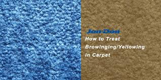 how to remove yellowing browning from
