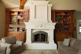 custom cast stone concrete fireplace