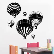 Hot Air Balloons Wall Stickers Removable Diy Home Decor Vinyl Wall Decal For Living Room Kids Nursery Baby Room Wall Decals Wall Stickers Aliexpress