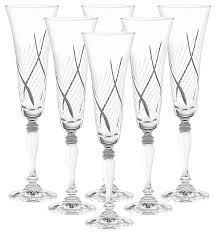 bohemian crystal champagne flutes