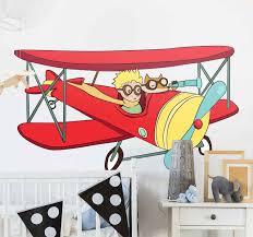 Little Prince Plane Fairy Tale Sticker Tenstickers