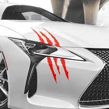 Car Monster Claw Scratch Stripe Headlight Sticker For Toyota Camry Corolla Rav4 Yaris Highlander Land Cruiser Prado Vios Vitz Car Stickers Aliexpress