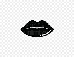 black and white lips vector png clipart
