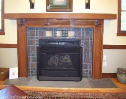arts and crafts fireplace mantels