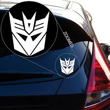Amazon Com Yoonek Graphics Decepticon From Transformer Decal Sticker For Car Window Laptop And More 543 4 X 3 6 White Automotive