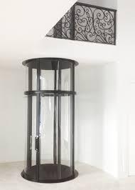 glass elevator round black citi