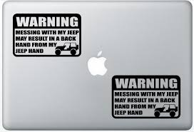 Buy Warning Jeep Wave Tj Wrangler Leporedecals0185 Set Of Two 2x Decal Sticker Laptop Ipad Car Truck In Cheap Price On Alibaba Com