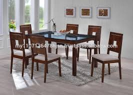 tempered glass dining set glass top