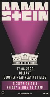 rammstein tickets tour dates