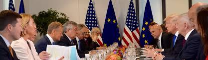 POTUSAbroad: Trump meets EU presidents, disagreement on #Russia ...