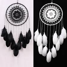 Waliicorners Dream Catcher White Black Dreamcatcher Kids Room Decoration Girls Room Decor Wedding Party Decoration Gift For Women Waliicorner S Store