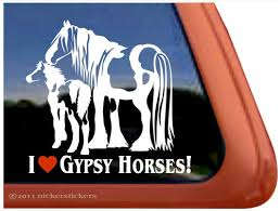 Gypsy Mare Foal Horse Decals Stickers A Nickerstickers